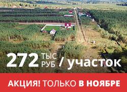 Лесной поселок «Боровички». Участки от 272 000 р. Электричество, дороги. В окружении леса.
